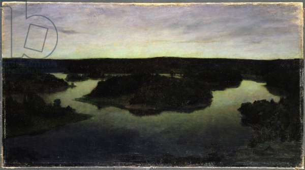 A Summer Night at Tyreso, 1895 (oil on canvas)