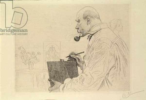 Self-Portrait, c.1912 (pen & ink on paper)