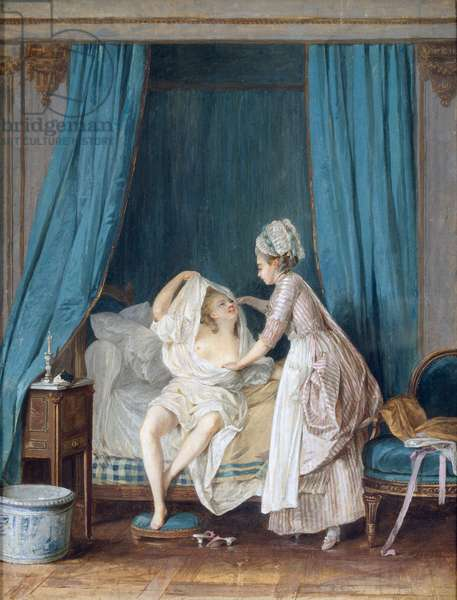 Lady Getting Out of Bed, 1776 (gouache on paper)
