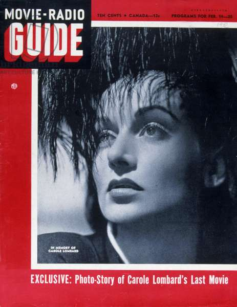 Carole Lombard on the cover of Movie-Radio Guide