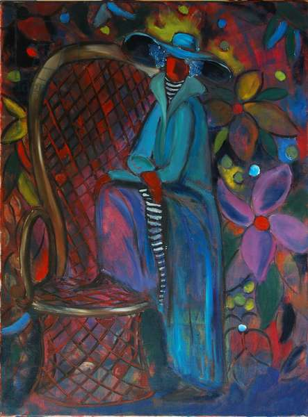 Lady in Blue, 2003 (oil on canvas)