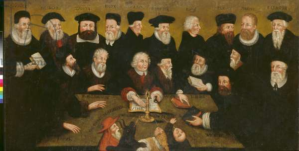 Protestant Reformers, c.1654 (oil on panel)