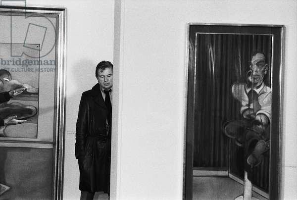 Francis Bacon (1909-1992) - Galerie Claude Bernard Janvier 1977 (b/w photo)