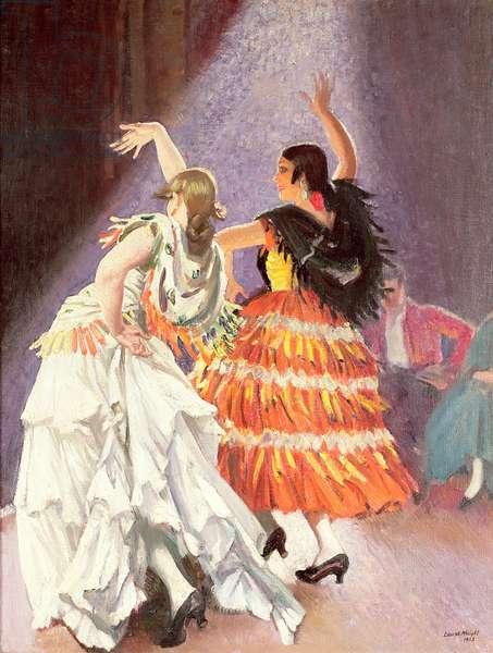The Rehearsal Caudo Flamenco, 1923 (oil on canvas)