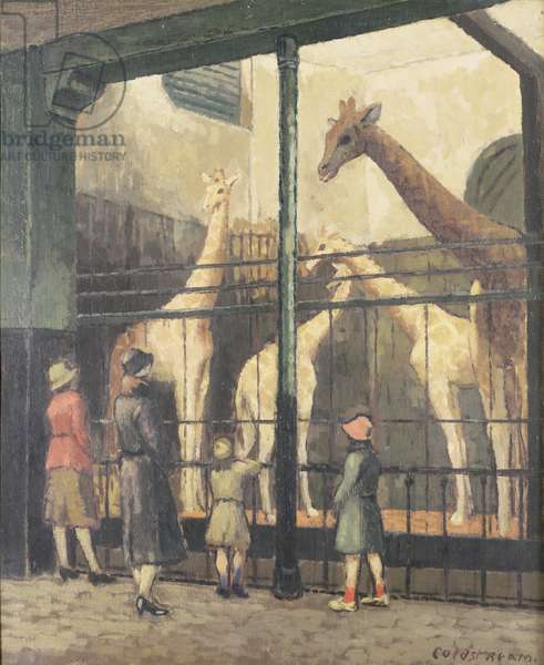 At the Zoo, 1930 (oil on canvas)