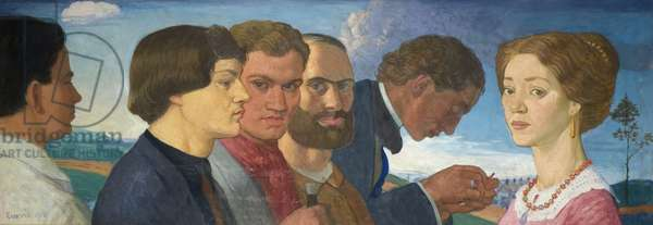 Some Later Primitives and Madame Tisceron, 1912 (tempera on canvas)