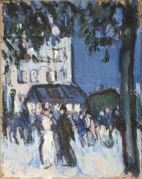 Street at Night, 1907 (oil on card)