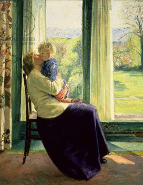 Spring - The Morning Room, 1910 (oil on canvas)