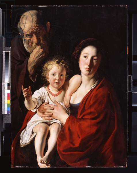 The Holy Family (oil on canvas)