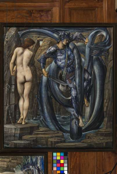The Doom Fulfilled (Perseus Slaying the Sea Serpent) c.1882 (gouache on paper)
