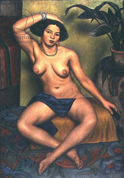 Seated Nude, or Gypsy at her Toilet, 1924 (oil on canvas)