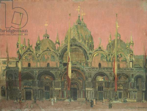 A Red Sky at Night, San Marco (oil on canvas)