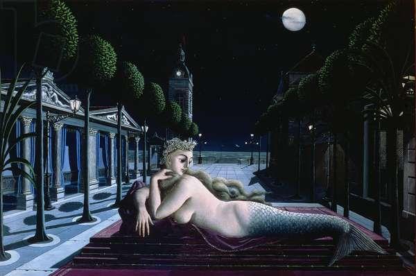 The Siren, 1940 (oil on wood)