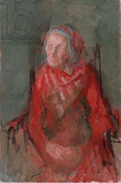 Portrait of an Old Lady (oil on canvas)