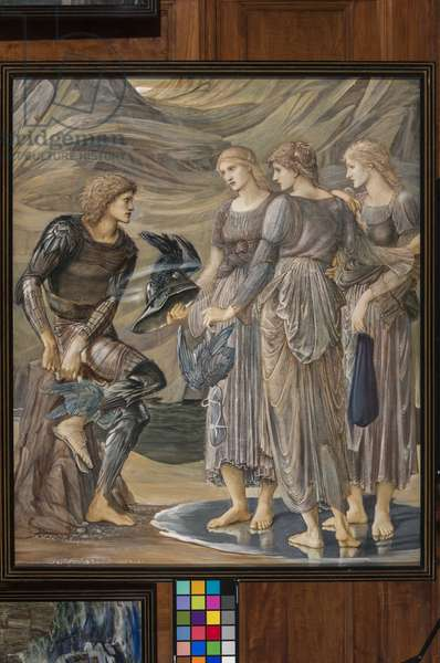 Perseus and the Sea Nymphs, c.1876 (gouache)