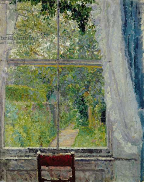 View from a Window (oil on canvas)