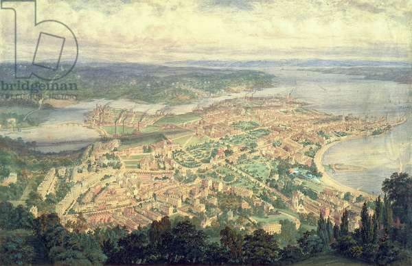 Southampton in the Year 1856 (w/c on paper)