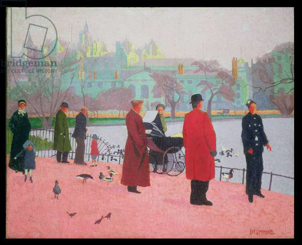 In the Park (St. James's Park) 1912 (oil on canvas)