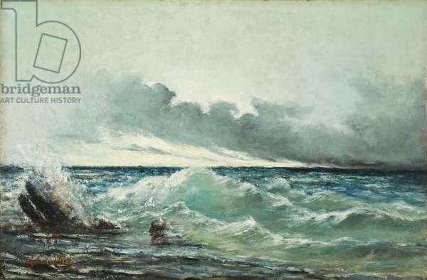 La Vague (oil on canvas)