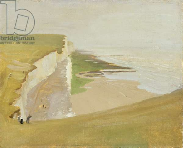 Cliffs at Rottingdean (oil on canvas on millboard)