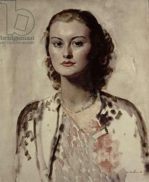 Portrait of a woman, c.1935 (oil on canvas)