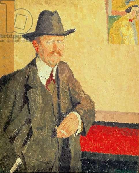 Portrait of Charles Ginner, c.1911 (oil on board)