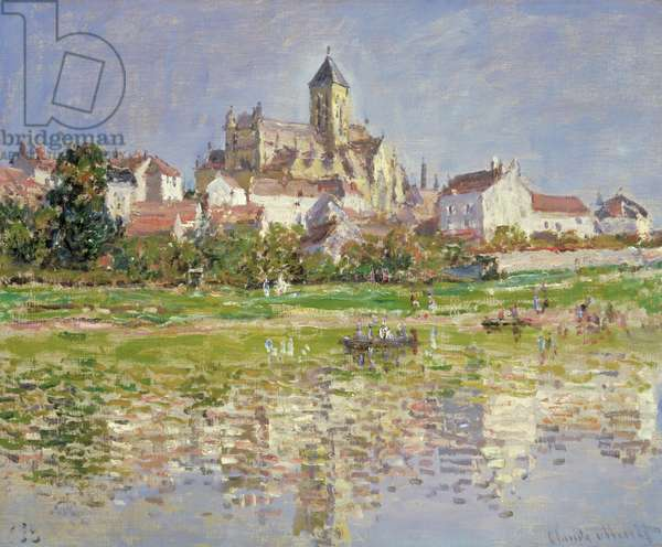 The Church at Vetheuil, 1880 (oil on canvas)