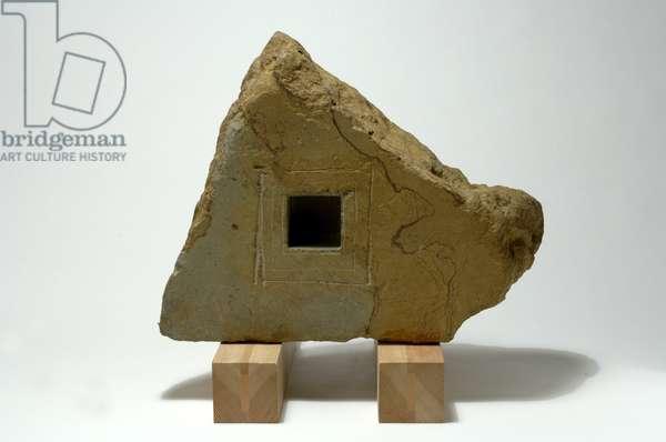 Bye Bye the Elephant, 1980 (hornton stone on wood)