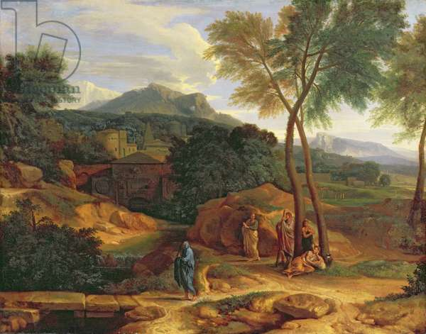 Landscape with Conopion Carrying the Ashes of Phocion (oil on canvas)