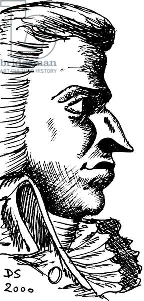 Wolfgang Amadeus Mozart - caricature of the Austrian composer