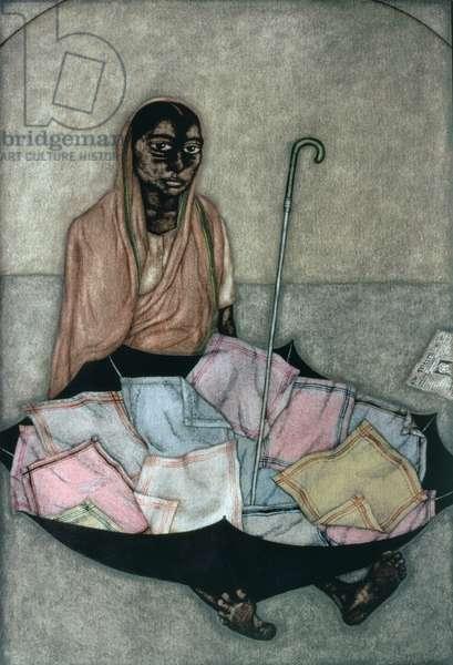 Handkerchief Seller, 1983 (w/c on paper)