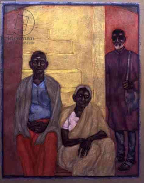 Laxmi Narayan and Son, 1987 (w/c on paper)