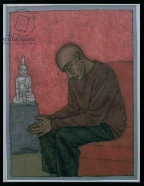 Contemplation (Binoy) 1998 (w/c on paper)
