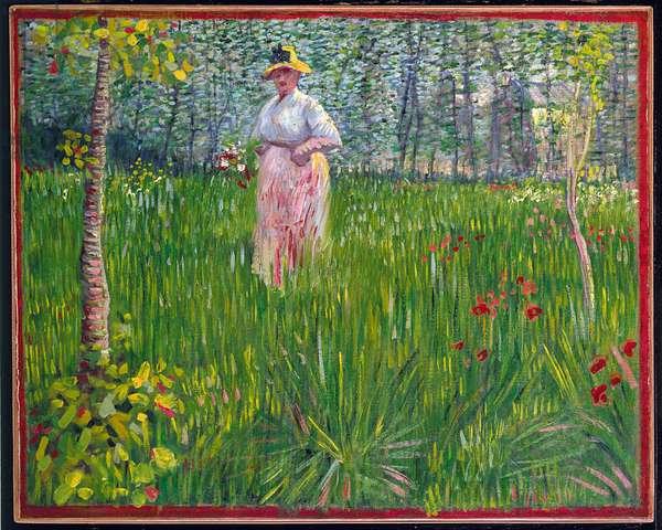 Femme dans un jardin, 1887 (oil on canvas)
