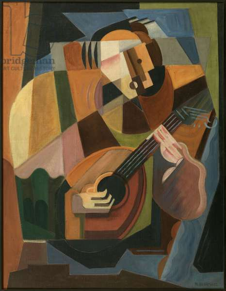 The Lute Player, 1917-18 (oil on canvas)