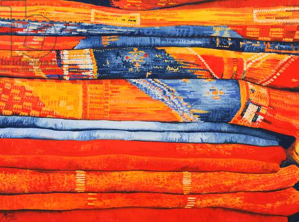 Moroccan Fabrics 6, 2013, (gouache on paper)