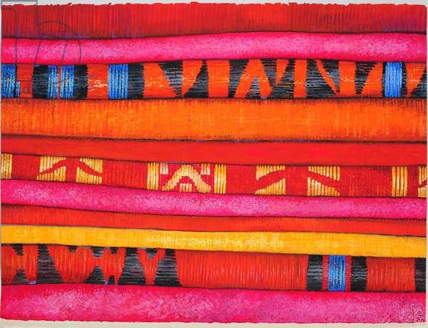 Moroccan Fabrics 2, 2013, (gouache on paper)