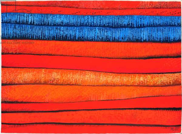 Moroccan Fabrics 3, 2013, (gouache on paper)