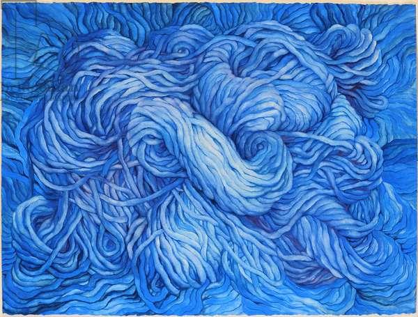 Wool Cobalt Blue, 2013, (gouache on paper)