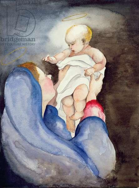 Madonna and Child, 1996 (w/c)
