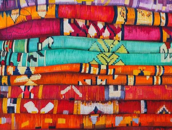 Moroccan Fabrics 4, 2013, (gouache on paper)