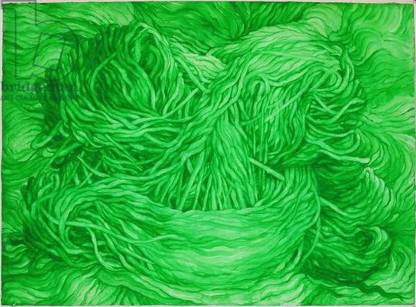 Wool Green, 2013, (gouache on paper)