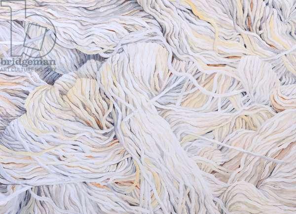 Wool White, 2013, (gouache on paper)