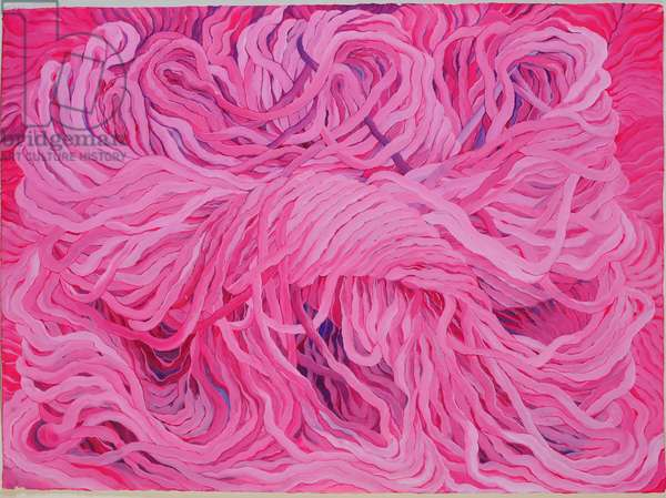 Wool Pink, 2013, (gouache on paper)