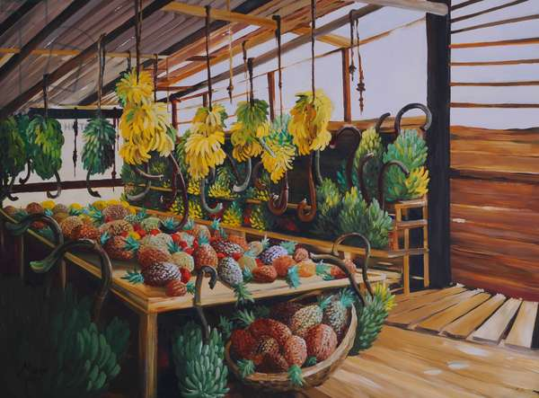 Tropical Fruit, 2013,(gouache on paper)