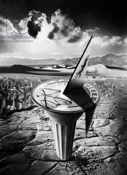 Spilling Time, 1991 (b/w photo)
