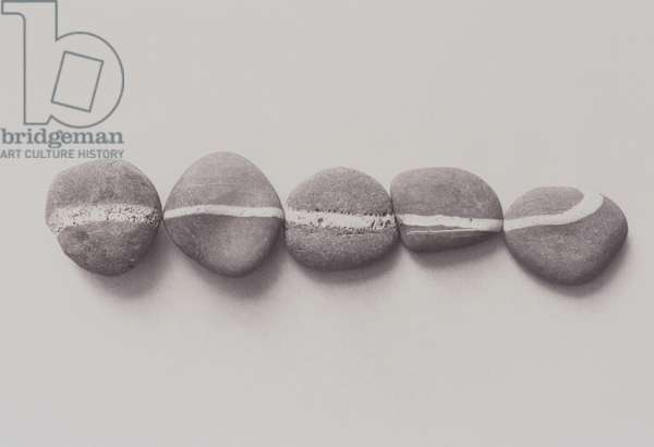 Composition of pebbles with white line