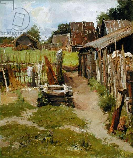 Village Yard, 1953 (oil on canvas)