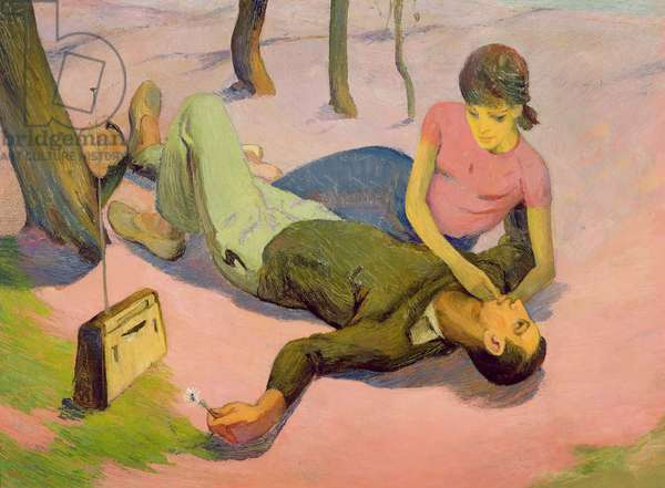 Spring Lovers, 1963 (oil on canvas)