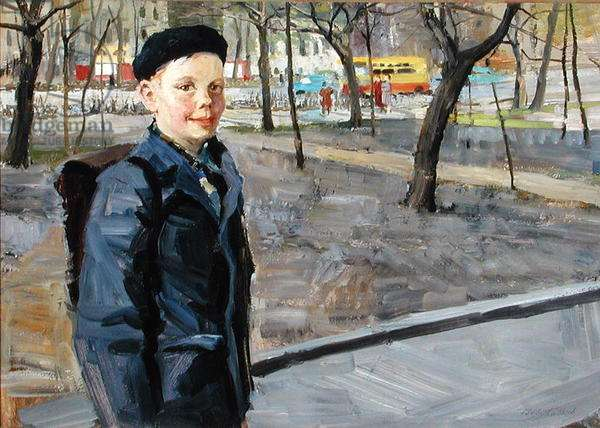 Portrait of Kosmya Blagovich Cheysky, 1963 (oil on board)